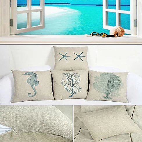 COASTAL CHARM Cushion Covers - VistaShops - 5