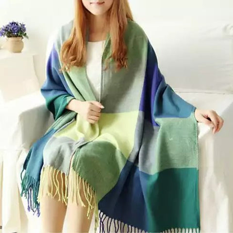 COLORAMA Reversible Shawl Full Of Colors - VistaShops - 4