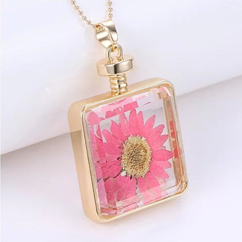 Coral Floral Big Wildflower Necklace - VistaShops - 3