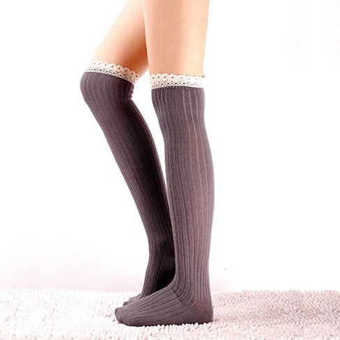 Crochet Cuteness Knee High Socks - VistaShops - 2