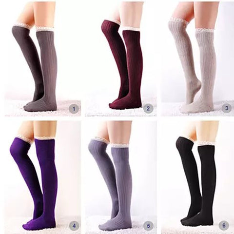 Crochet Cuteness Knee High Socks - VistaShops - 3