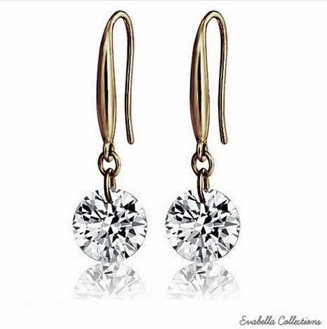 Diamonds In The Sky in sizes S/M/L with 14 kt Gold Bond on a Sterling Silver hook earrings - VistaShops - 1