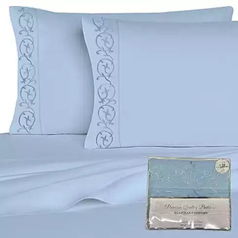 Embroidered Microfiber 4 pc Sheet Set 2000 TC - VistaShops - 2