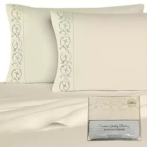Embroidered Microfiber 4 pc Sheet Set 2000 TC - VistaShops - 3
