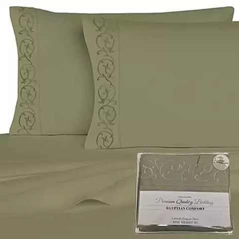 Embroidered Microfiber 4 pc Sheet Set 2000 TC - VistaShops - 5