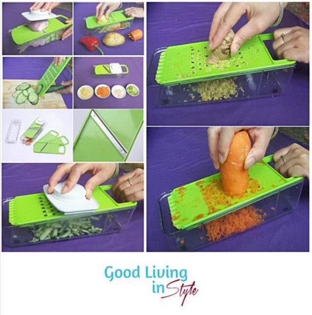 GO GREEN Veggie 4 in 1 Grinder, Slicer, Cutter And Shredder - VistaShops - 2