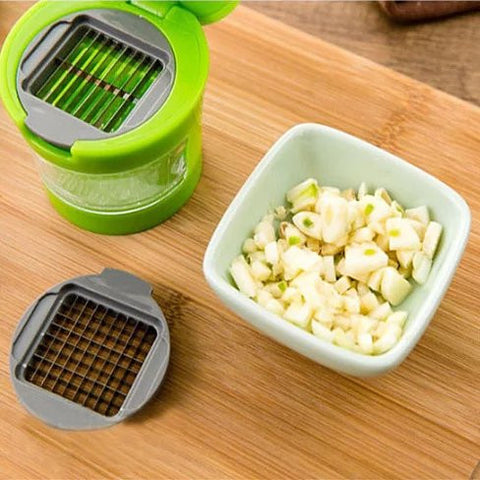 Go For Garlic The Touchless Garlic Chopper And Slicer - VistaShops - 4