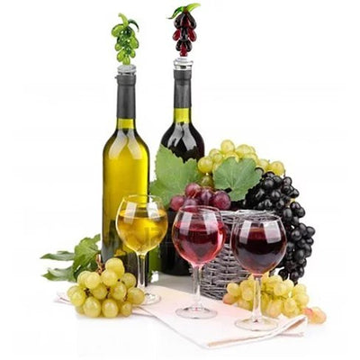 Hearty Wines Pair Of Wine Stoppers For Wine Lovers - VistaShops - 1