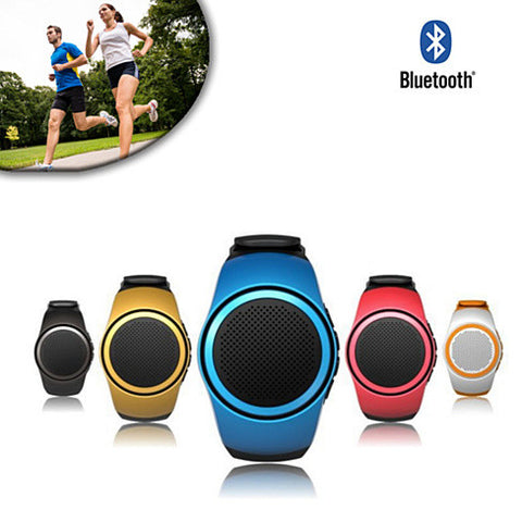 Jogging Buddy Bluetooth Smart Speaker W/FM Radio Watch Style And More - VistaShops - 1