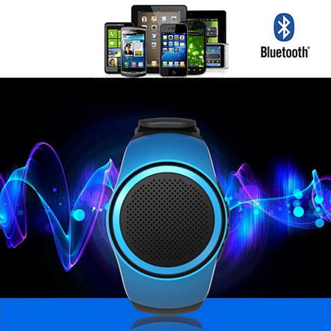 Jogging Buddy Bluetooth Smart Speaker W/FM Radio Watch Style And More - VistaShops - 2