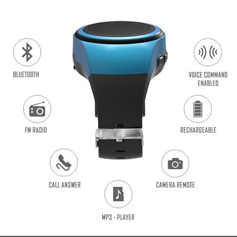 Jogging Buddy Bluetooth Smart Speaker W/FM Radio Watch Style And More - VistaShops - 4