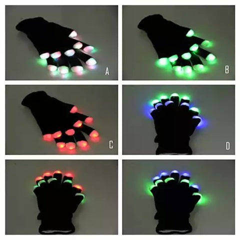 Jolly Glowing Gloves Let There Be Light At Your Fingertips - VistaShops - 2
