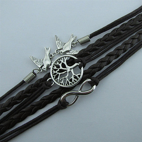 LOVEYDOVEY Doves Of Infinite Love And Peace Bracelet - VistaShops - 2