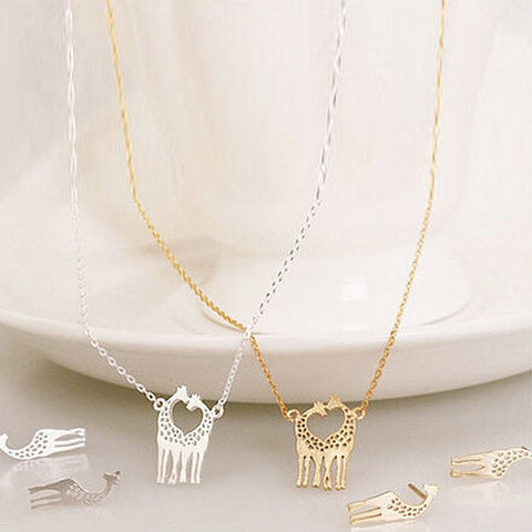 LOVE IS TALL Giraffe Love Necklace And Earrings Set of 3 - VistaShops - 1
