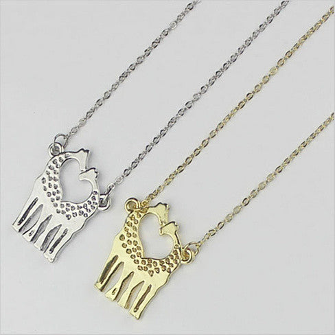LOVE IS TALL Giraffe Love Necklace And Earrings Set of 3 - VistaShops - 4