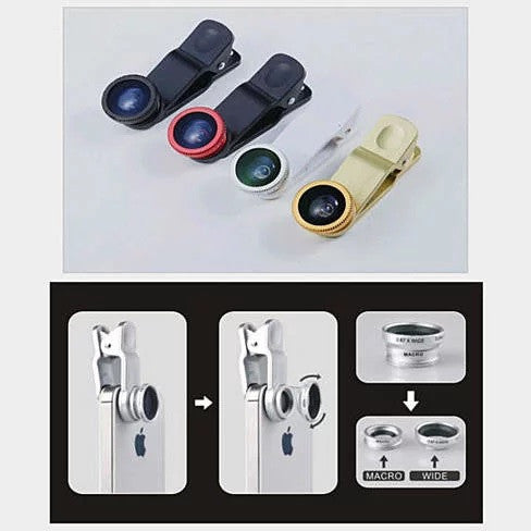 shopify-3-in-1 Universal Clip on Smartphone Camera Lens - 6 Colors-4