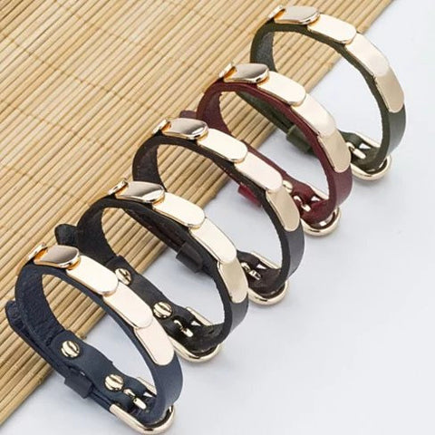 LinkBling Genuine Leather Bracelet