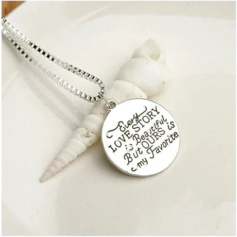 Love Quote Pendant and Chain Necklace - VistaShops - 2