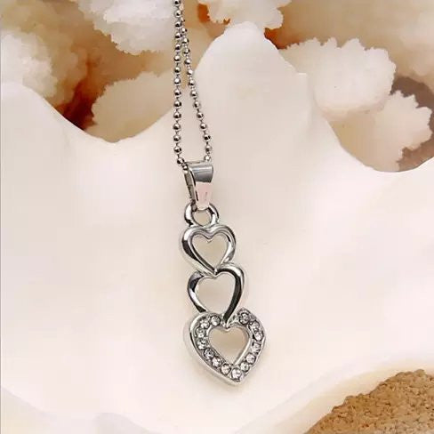 Love Story Three Phases Of Love Necklace - VistaShops - 1