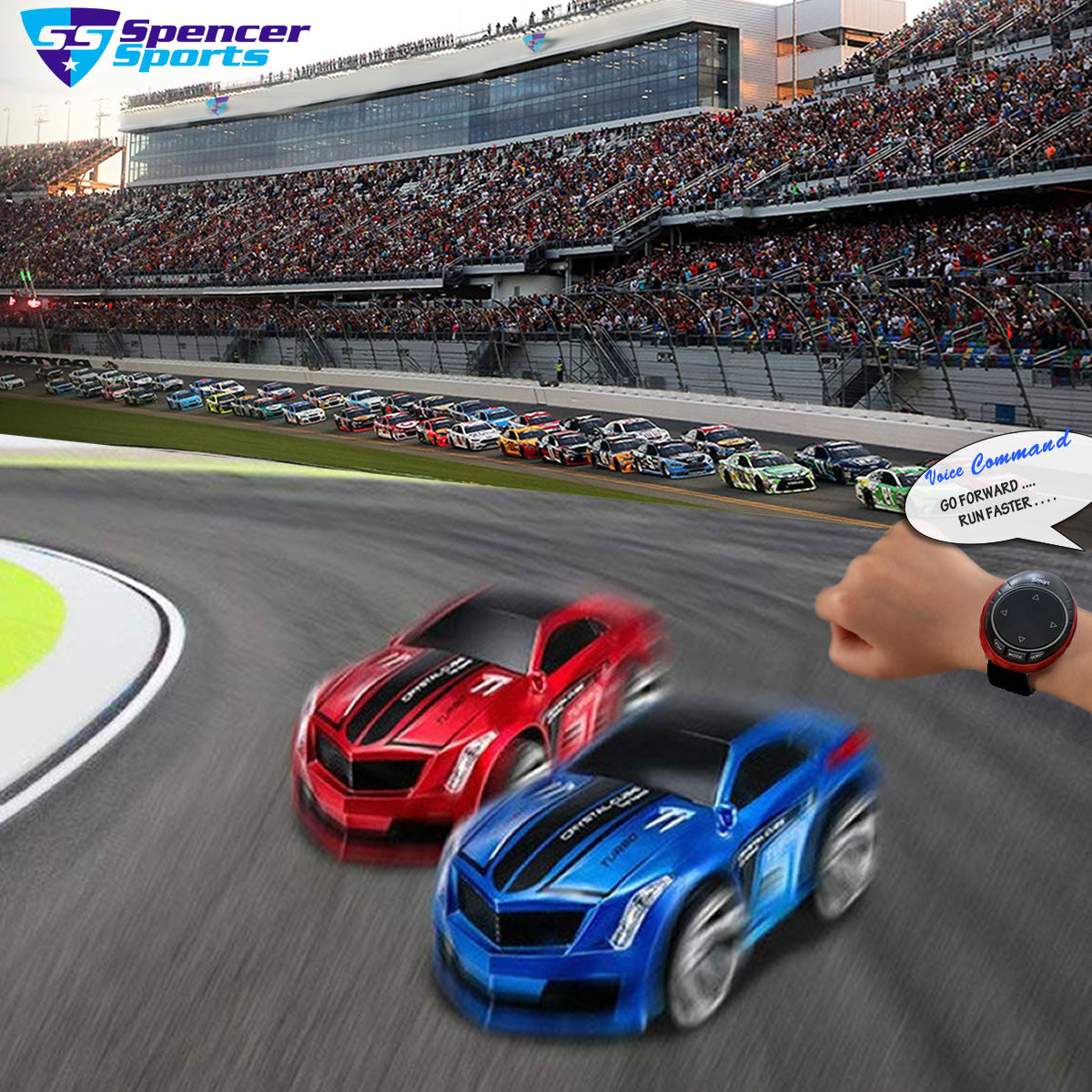 shopify-Turbo Racer Voice Activated Remote Control Sports Car-1