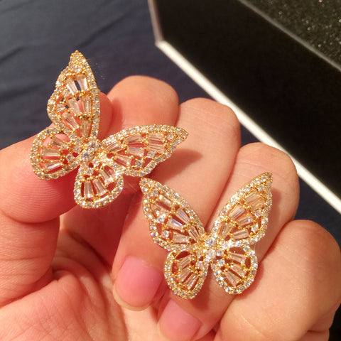 Mariposa Marvelous Set Of Butterfly Bracelets, Rings And Earrings