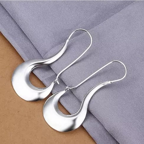 MOON DANCE Silver Crescent Earrings