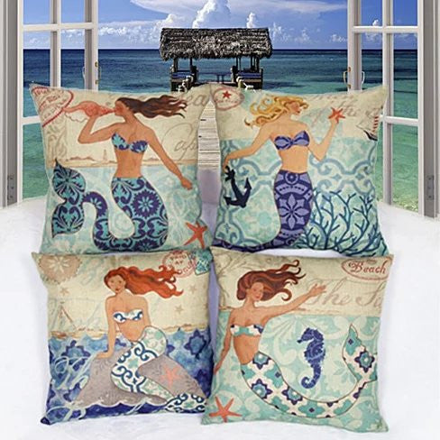 Moods Of A Mermaid Cushion Covers - VistaShops - 1
