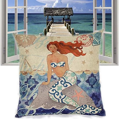 Moods Of A Mermaid Cushion Covers - VistaShops - 2