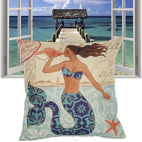 Moods Of A Mermaid Cushion Covers - VistaShops - 3