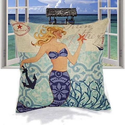 Moods Of A Mermaid Cushion Covers - VistaShops - 4
