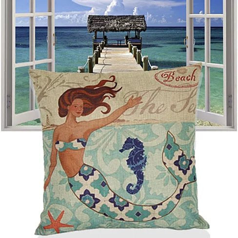 Moods Of A Mermaid Cushion Covers - VistaShops - 5