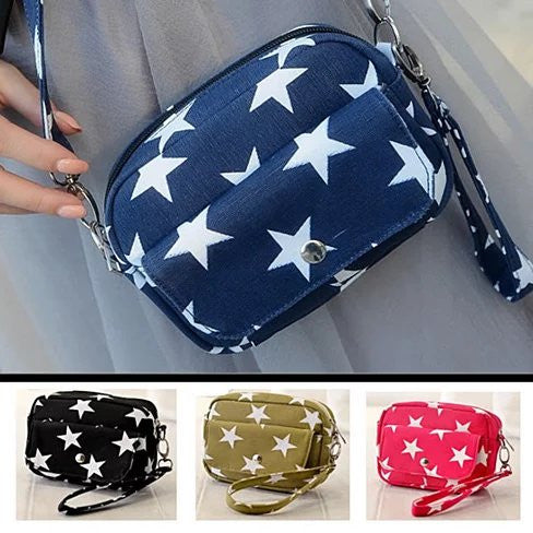 Multi Starrer Movie Night Wristlet And Cross Body Bag - VistaShops - 1