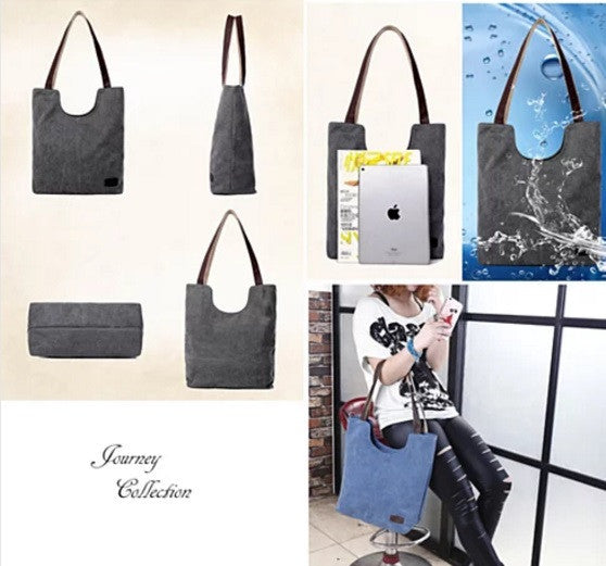 NATURA Cotton Canvas Tote By Journey Collection - VistaShops - 3