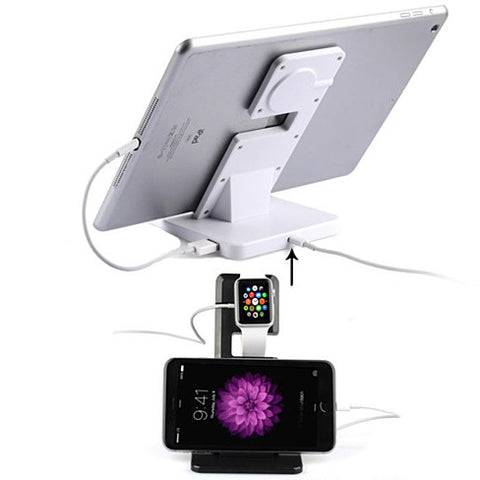 NEW Apple iWatch and iPhone and iPad a Dual Charging Stand - VistaShops - 3