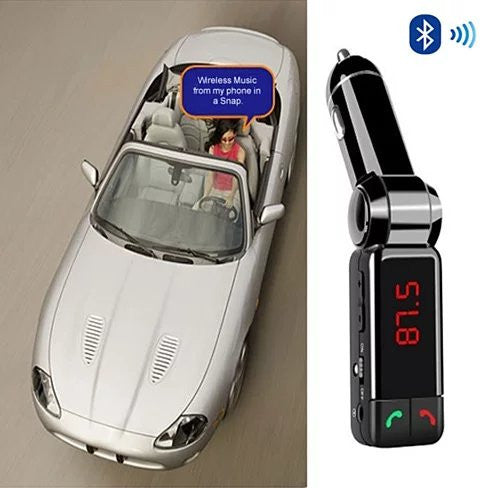 NEW Car FM Music Broadcaster with Bluetooth and Car Charger - VistaShops - 1