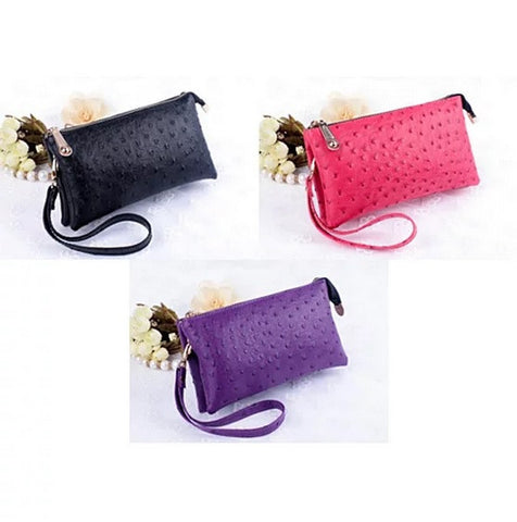 OMG OMG FAUX OSTRICH LEATHER PURSES - VistaShops - 4