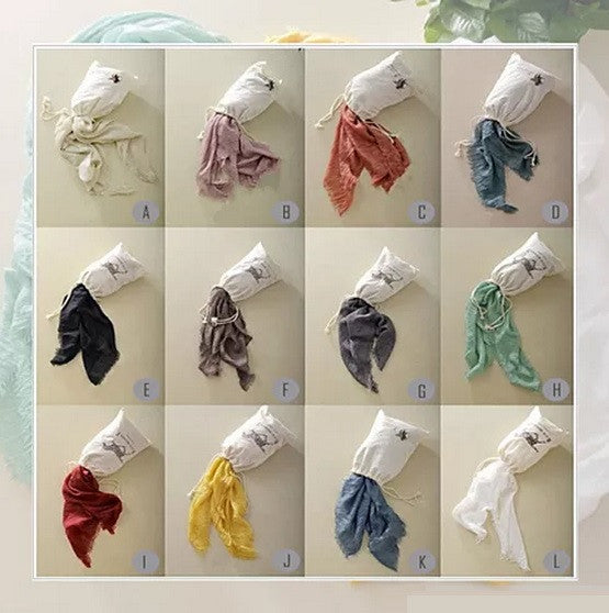 POETRY IN MOTION Modern Vintage Shawl Scarves - VistaShops - 2