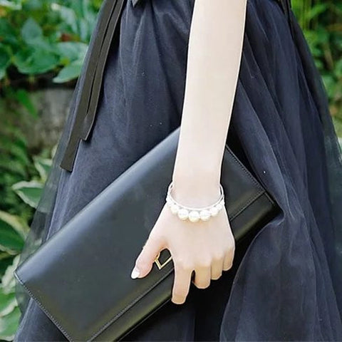 Palace Pearls Cuff Style Pearl Bracelet - VistaShops - 2