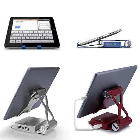 Podium Style Stand with Extended Battery - Up to 200% for iPad ,iPhone or any smart gadgets - VistaShops - 5