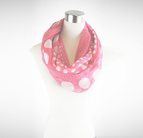 Polka Polka - The Playful Infinity Scarf - VistaShops - 4