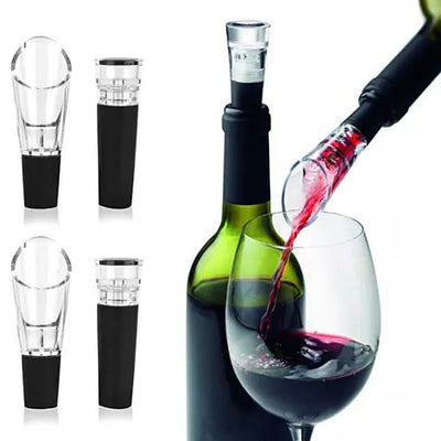 Pour And Preserve Wine Bottle Spouts And Stoppers Set Of 4 - VistaShops - 1