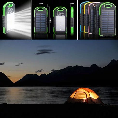 PowerGLO Echo Friendly Solar Charger With 12 Bright LED Lamps - VistaShops - 2