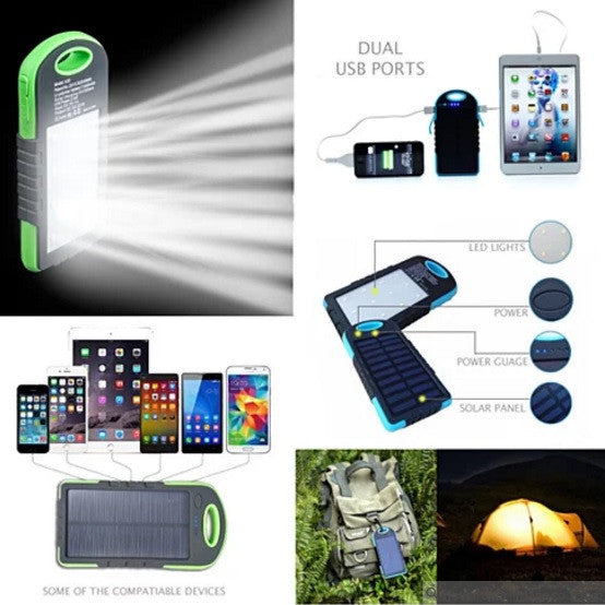 PowerGLO Echo Friendly Solar Charger With 12 Bright LED Lamps - VistaShops - 4
