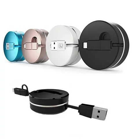 Puck N Roll Retractable Pocket Size Charging Cable For All Smart Devices - VistaShops - 1