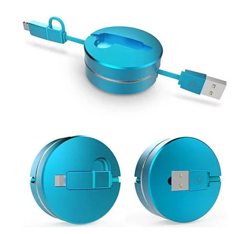 Puck N Roll Retractable Pocket Size Charging Cable For All Smart Devices - VistaShops - 3