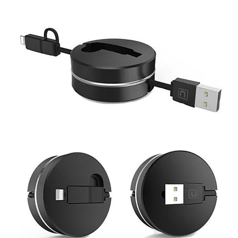 Puck N Roll Retractable Pocket Size Charging Cable For All Smart Devices - VistaShops - 4