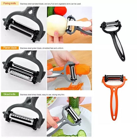 Quick Prep 3 in 1 Veggie Peeler, Slicer & Shredder - VistaShops - 2