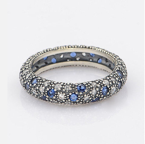 Starry Night Ring With Sapphire Crystals