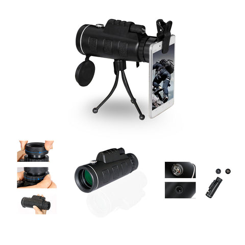 Zoomable 60X Monocle Binocular with Smart Phone attachment - VistaShops - 3