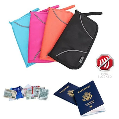 SAFE JOURNEY RFID BLOCKER Passport and Credit Card Protector Wallet - VistaShops - 1